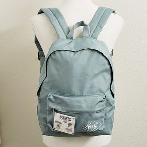 NEW - Victoria's Secret Pink Green Backpack W/Pins